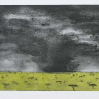 African Storm, Etching By Lesley Prickett
