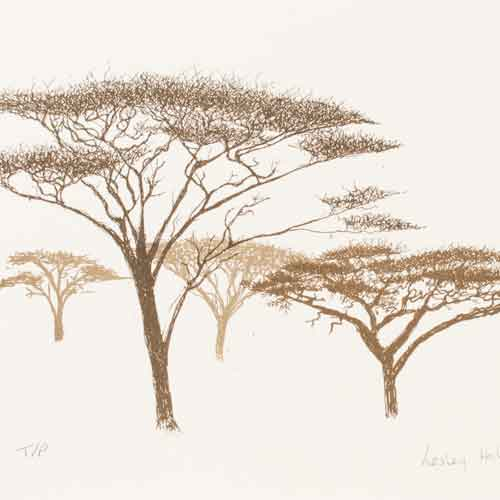 Acacia Trees, Screenprint
