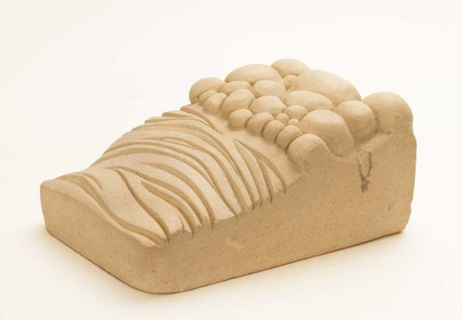 Beach And Sea, Handcarved Limestone