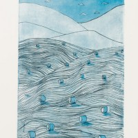 Fields, Hills And Sky, Etch/Aquatint