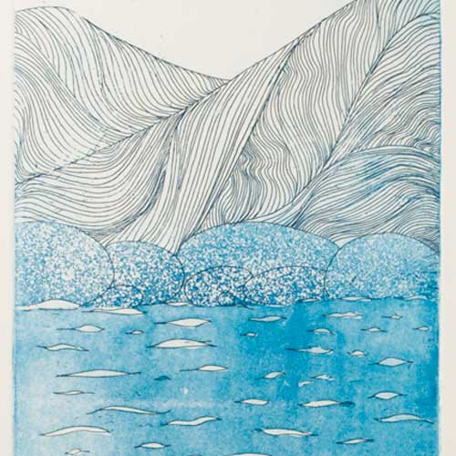 Sky, Sea And Mountains, Etch/Aquatint