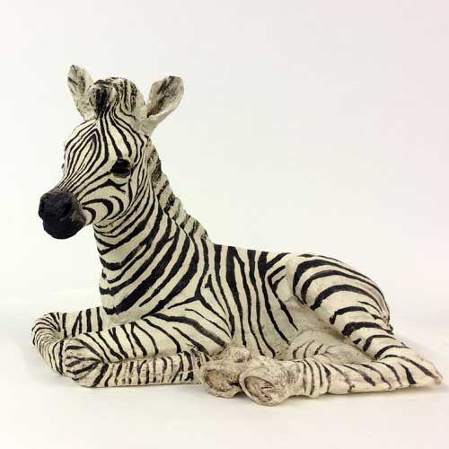 Zebra Foal Sculpture