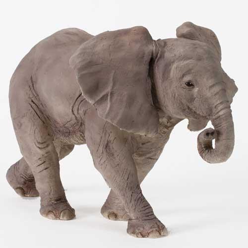 African Elephant Calf Sculpture