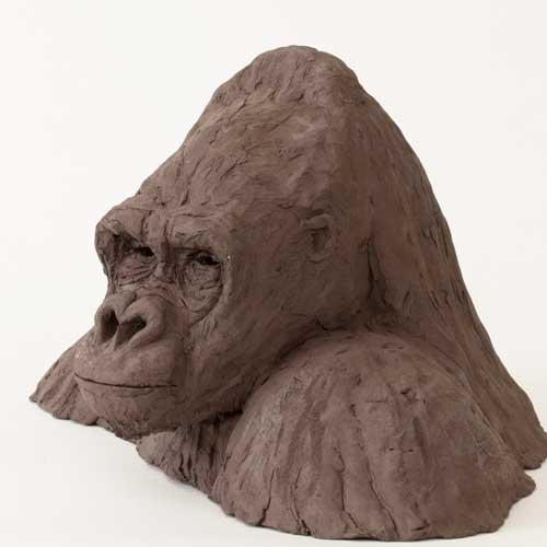 Lowland Gorilla Bust