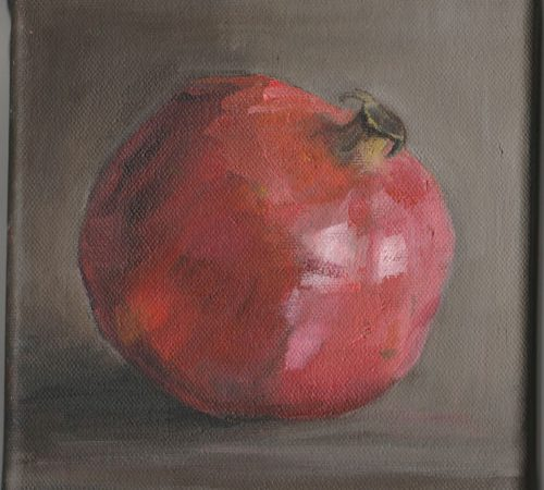 Pomegranate Oil Painting By Lesley Prickett